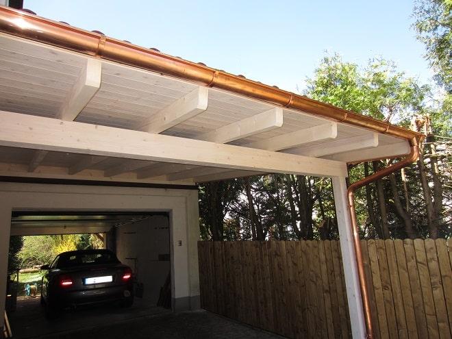 Häufig Inspiration: Holz Carport, komplett mit Aufbau WO94