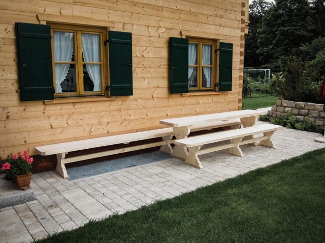 Gartenmöbel Sitzgruppe Aus Massivem Holz Nach Maß