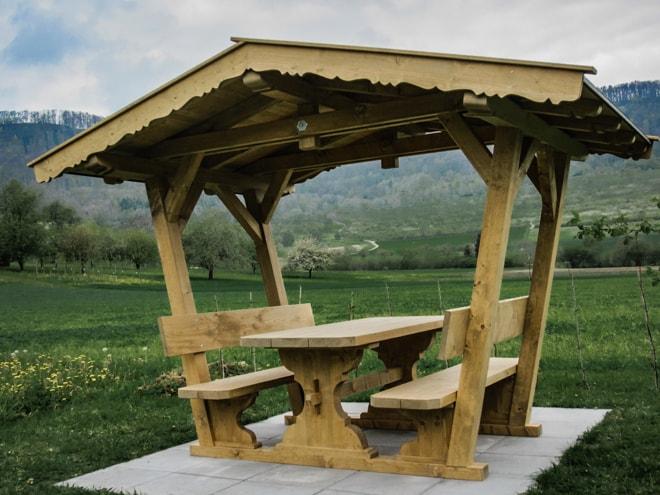 überdachte Sitzgruppe Freisitz Aus Holz Nach Maß Gebaut